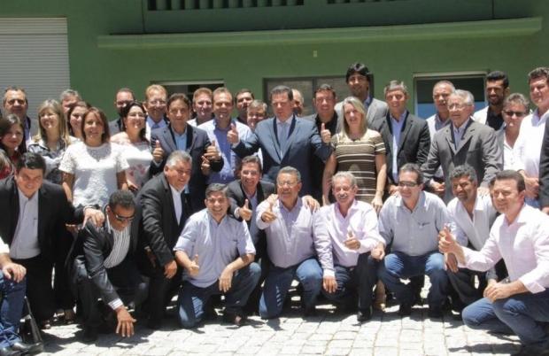 Marconi recebeu, no início desta tarde (28), os prefeitos eleitos e reeleitos PROS, PRB, PTN, PHS, PTC, PRTB, PT, DEM e PMDB, no Palácio das Esmeraldas