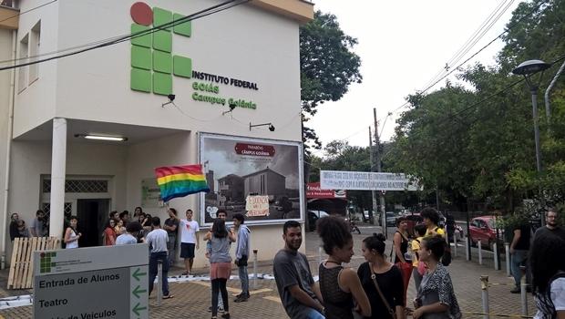 IFG de Goiânia, que segue ocupado | Foto: reprodução