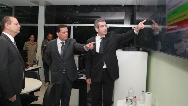 Marconi e Leonardo Vilela apresentam Conecta SUS para ministro Ricardo Barros   Foto: Humberto Silva