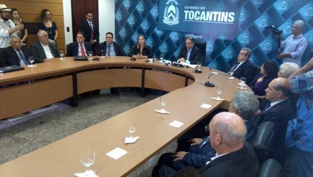 Em reunião, Marcelo Miranda anunciou novas medidas para controlar as despesas do Estado | Foto: Reprodução