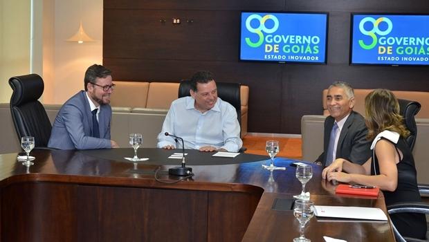 Marconi se reuniu com representantes da CMOC Brasil, que comprou os setores de fosfato e nióbio da Anglo American, localizados em Catalão e Ouvidor | Foto: Eduardo Ferreira