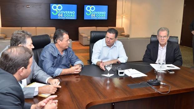 Marconi recebe prefeitos para falar de Segurança Pública e Infraestrutura