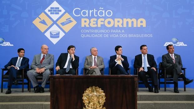 Presidente Michel Temer durante cerimônia de lançamento do Cartão Reforma   Foto: Beto Barata/PR