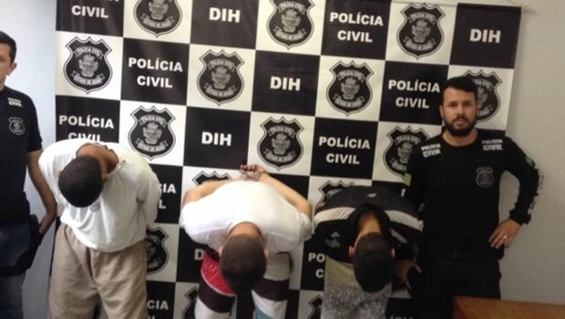 Polícia apresentou suspeitos nesta terça-feira (22) | Foto: Reprodução