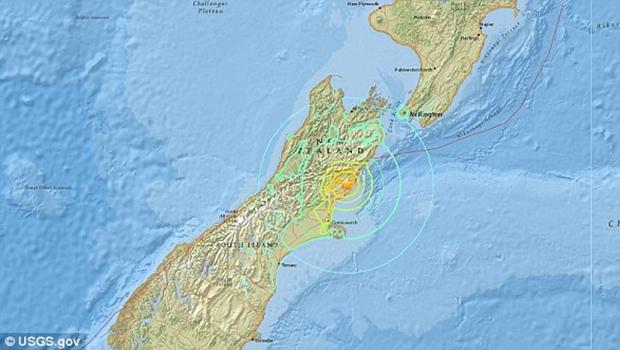 Terremoto atinge Nova Zelândia e gera alerta de tsunami