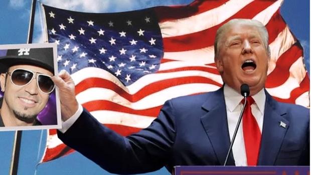 Rádio faz promoção para levar ouvinte e cantor Latino na posse de Trump
