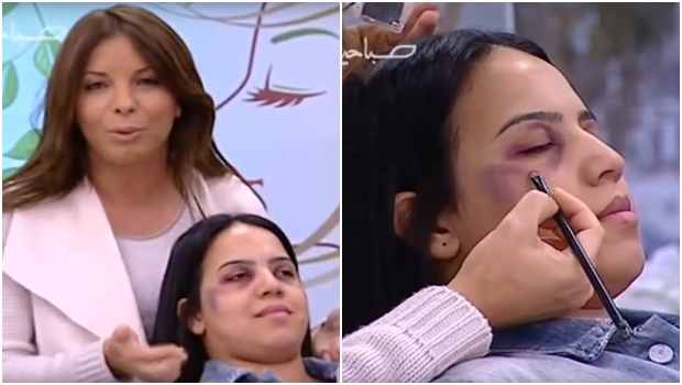 Programa de TV ensina mulheres a esconder marcas de violência com maquiagem