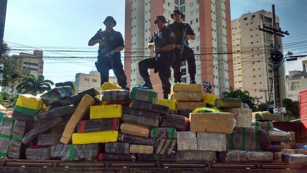 Polícia Militar realiza a maior apreensão de drogas da história em Goiás