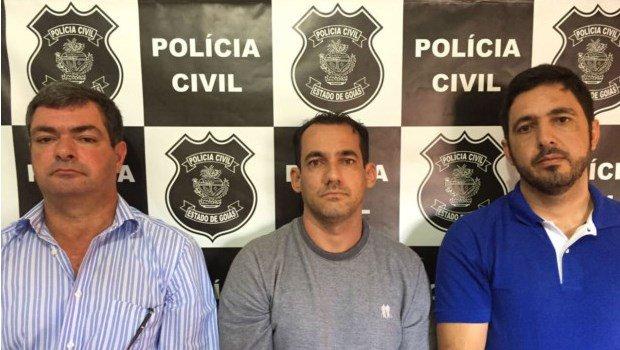 Da esquerda para a direita: o ex-prefeito Jurandir, o empresário Cristiano e ex-secretário Neilson