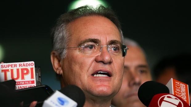 Presidente do Senado durante entrevista coletiva | Foto: Marcelo Camargo/Agência Brasil