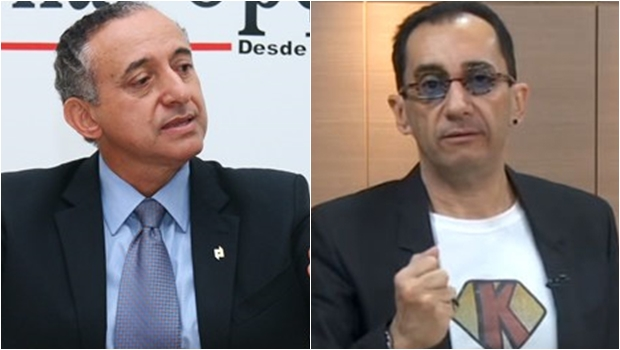 Jorge Kajuru não aceita cumprimentos de Anselmo Pereira. É um prenúncio da guerra