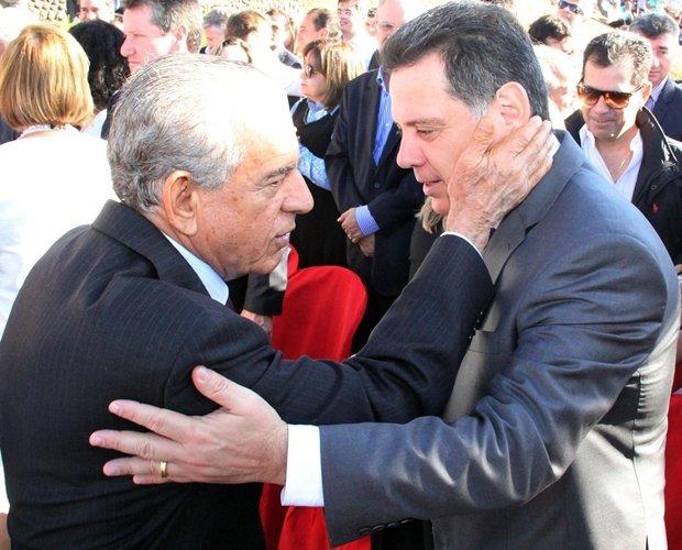 Iris Rezende e Marconi Perillo durante encontro em 2016 | Foto: Humberto Silva