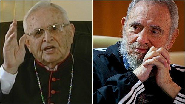 """D. Paulo Evaristo Arns, cardeal, ignorando o imenso sofrimento do povo cubano imposto pelo ditador, escreveu carta para Fidel Castro: """"Tenho-o presente diariamente em minhas orações e peço ao Pai que lhe conceda sempre a graça de conduzir os destinos de sua Pátria"""""""