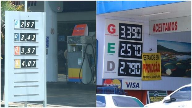 Variação do litro da gasolina chega a 60 centavos em Goiânia