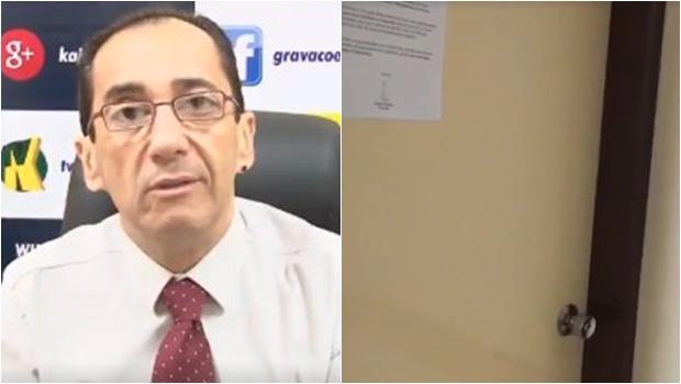 Kajuru relata sumiço de documentos após problema na fechadura do gabinete