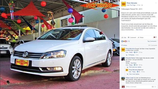 98d2cbafb Loja de carros de Goiânia vira sucesso na internet por anúncios bem  humorados