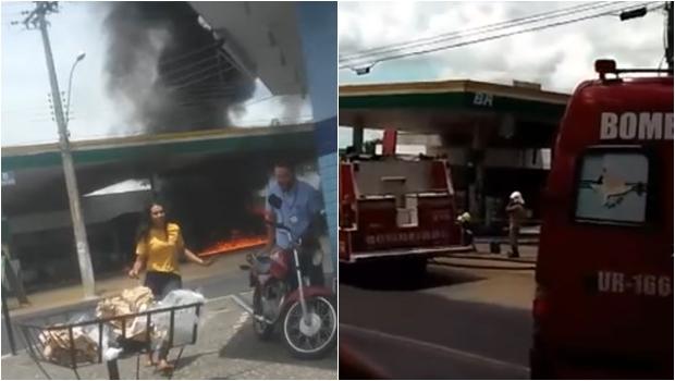 Posto de gasolina pega fogo em Caldas Novas