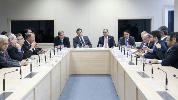 Marcelo Miranda comanda bancada federal e prefeitos em visita ao Ministério dos Transportes