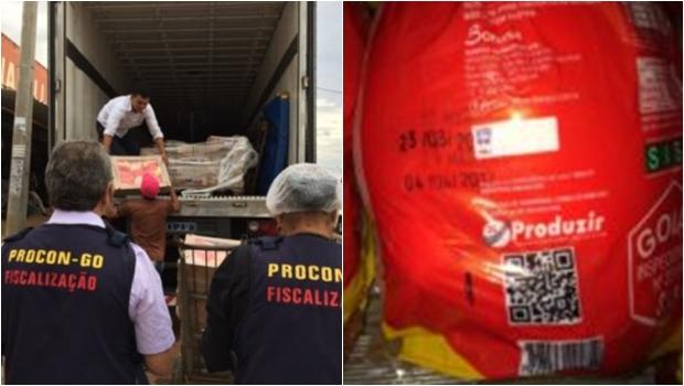 Procon Goiás apreende quase uma tonelada de frango com validade adulterada
