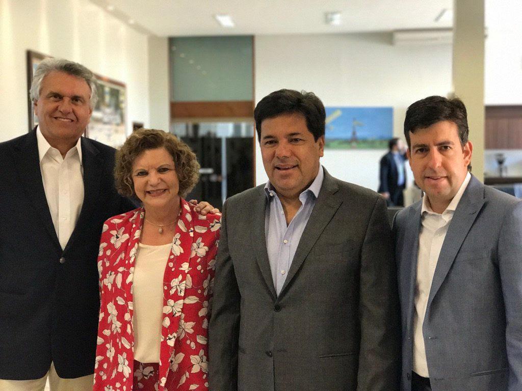 Lúcia Vânia reúne-se com líderes de partidos que apoiam Ronaldo Caiado pra governador