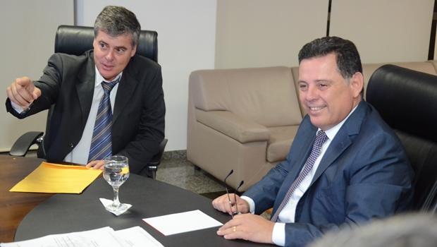 Marconi recebe prefeito de Marzagão e garante convênios com gestão municipal