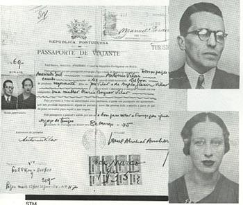 Passaporte de Luiz Carlos Prestes e Olga Benario, agente de Stálin, quando vieram para o Brasil com o objetivo de organizar uma revolução comunista