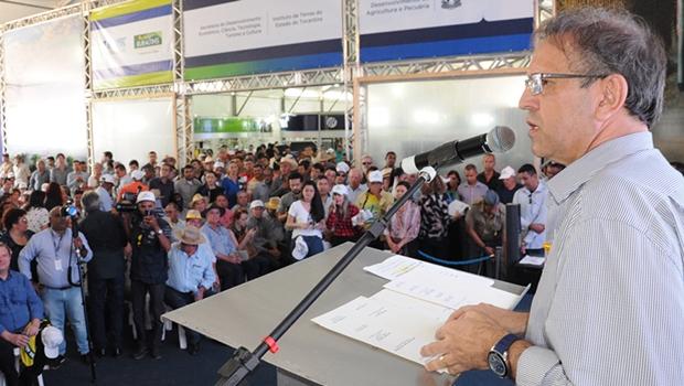 Ao abrir Agrotins, Marcelo Miranda exalta papel do agronegócio na economia