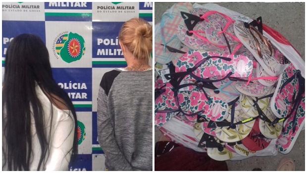 Mulheres são presas ao roubar 32 pares de chinelo em shopping de Goiânia