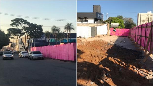 Obra de hipermercado em Goiânia vira alvo da polícia após construção de muro na rua