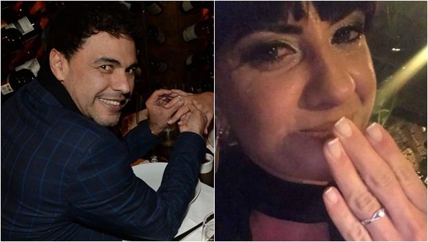 Zezé Di Camargo pede Graciele Lacerda em casamento e jornalista cai no choro