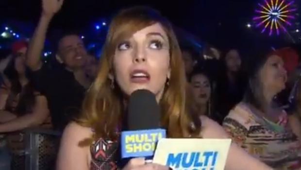 """Apresentadora do Multishow alfineta festival Villa Mix: """"O show é para quem está em casa"""""""