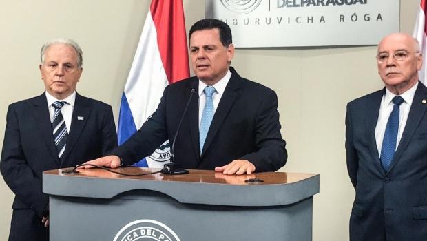Marconi diz que irá trabalhar para ampliação de relações comerciais com Paraguai