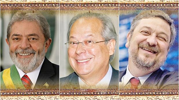 Lula, Zé Dirceu e Palocci, protagonistas da esquerda, destruíram o PT e se destruíram