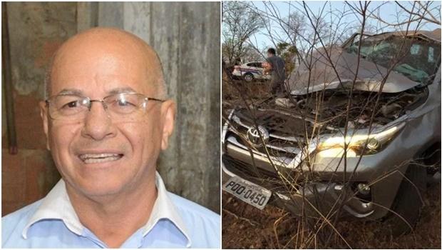 Professor Alcides Ribeiro sofre acidente de carro