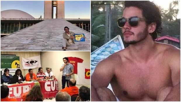"""Político defensor da bandeira """"Fora Temer"""", namorado de Fátima Bernardes faz sucesso"""