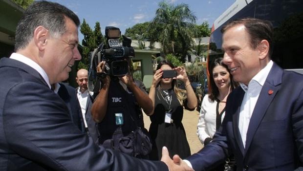 """""""Marconi mostrou grandeza ao abrir mão da candidatura em prol de Alckmin"""", diz Doria"""