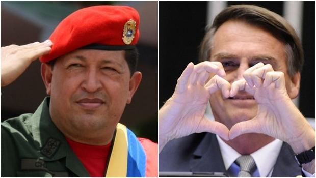 Bolsonaro derramou elogios a Hugo Chávez e internet não está sabendo lidar