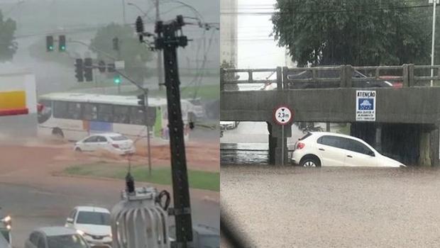 Chuva forte causa transtornos em Goiânia. Veja fotos