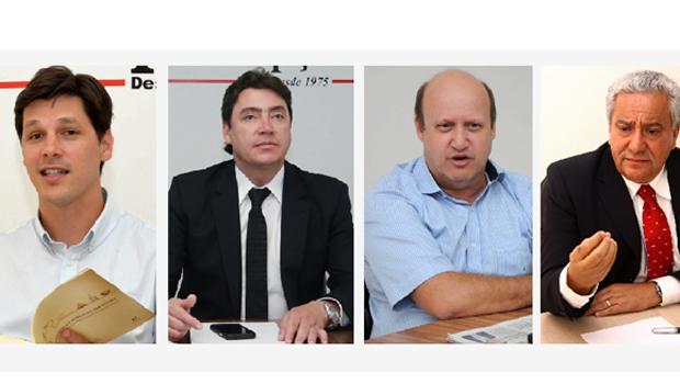 Daniel Vilela tenta formatar chapa com Vilmar Rocha, Wilder Morais e Célio Silveira