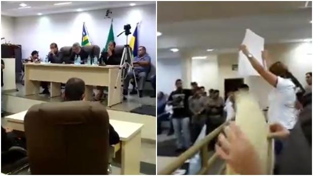 Aprovação de 13º para vereadores e prefeito gera revolta em Itapuranga. Veja vídeos
