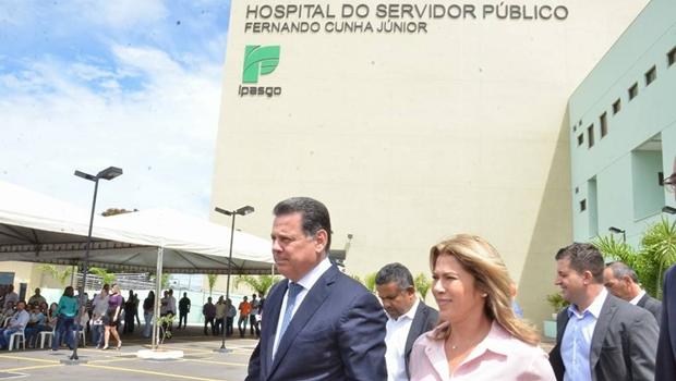 Marconi inaugura primeira etapa do Hospital do Servidor, em Goiânia