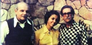 Osman Lins com o casal Lêda Alves e Hermilo Borba Filho