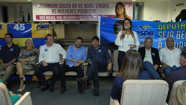 PSDB de Águas Lindas declara apoio a Aleandra Sousa para deputada estadual