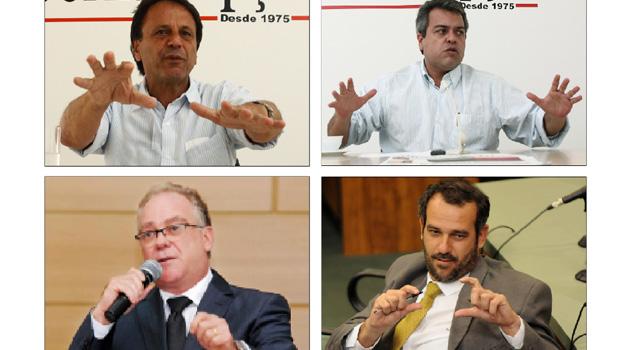 Caiado se reúne com Adib Elias, Paulo do Vale e Renato de Castro
