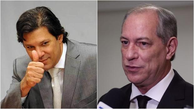 Ciro Gomes sugere que restará ao PT indicar Fernando Haddad como seu vice