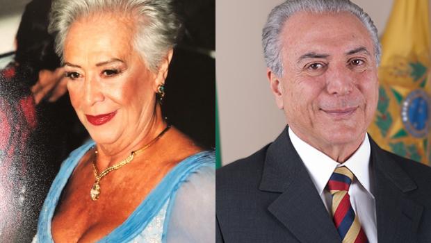 Mãe de Cláudia Raia é a cara do Michel Temer e a internet não está sabendo lidar com isso