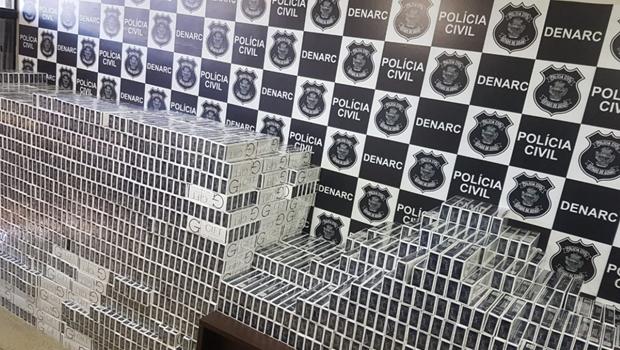 PC apreende mais de 7 mil pacotes de cigarros contrabandeados em Goiás