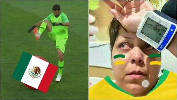 """Com direito a """"olé"""", México apavora torcida brasileira. Veja os memes"""