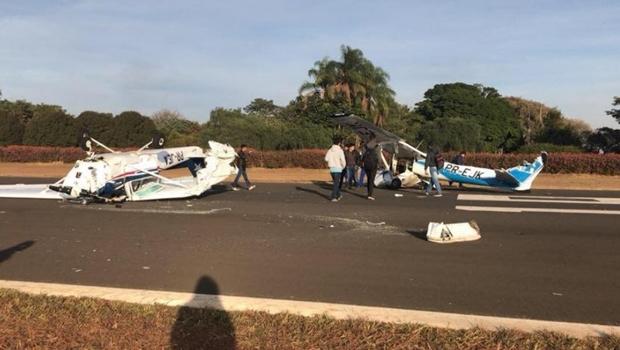 Aeronaves colidem no ar antes de pouso em aeroporto de SP