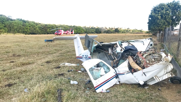 Avião que caiu perto de Planaltina já havia se envolvido em outro acidente